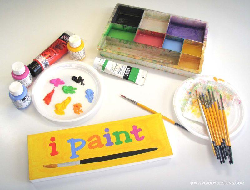 I paint