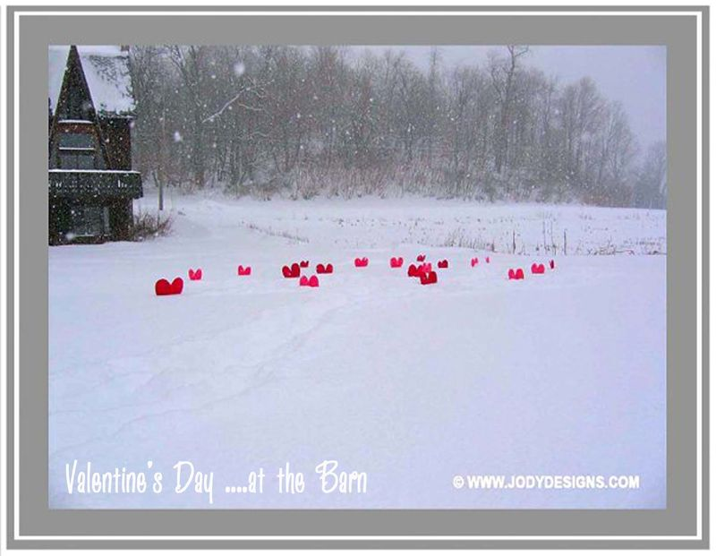 Blog-w textValentine's Day at the barn