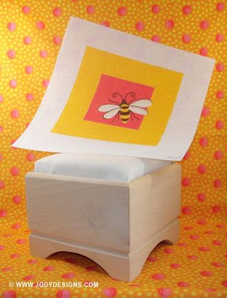 ETSY Bumble bee w-cricket stool