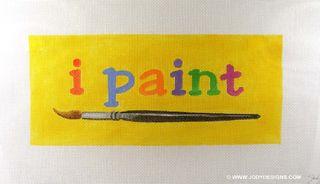 I paint canvas