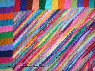 Stripe rug close-up