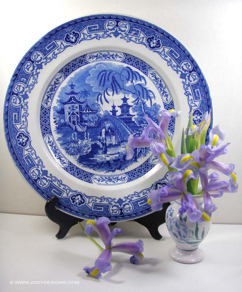 Blog: floweres & plate
