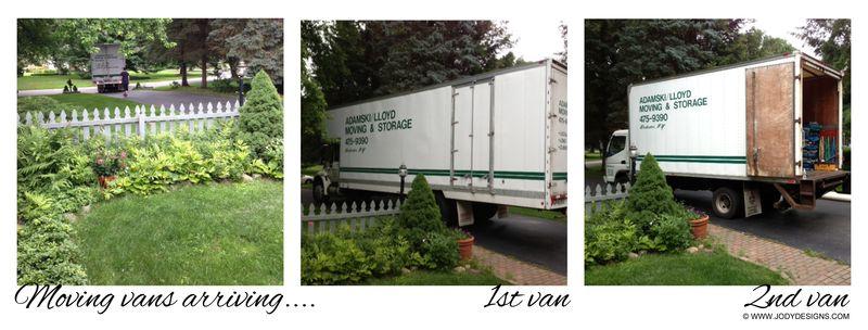 2 trucks arrive